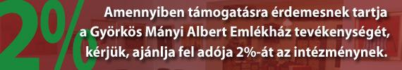 2% - Györkös Mányi Albert Emlékház