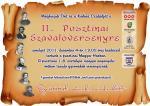 II. Pusztinai Szavalóverseny - plakát