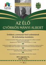 Az élő Györkös Mányi Albert - plakát