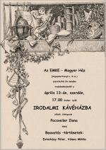 Irodalmi kávéház - plakát