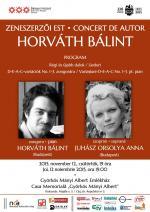 Horváth Bálint zeneszerzői estje – plakát