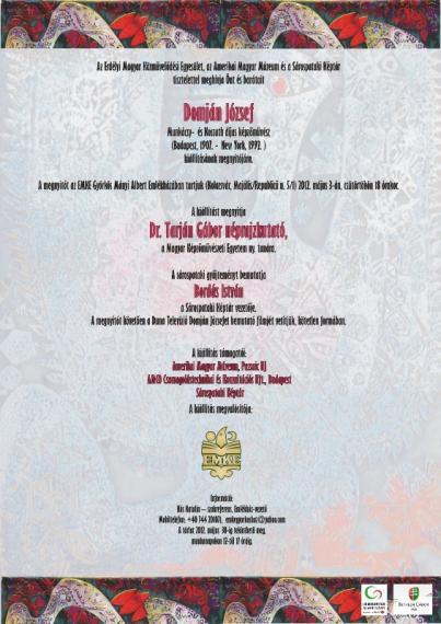 Domján József-kiállítás - plakát