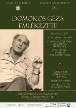 Domokos Géza emlékezete - plakát