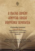 Magyar-örmény Könyvtár-sorozat bemutató – plakát