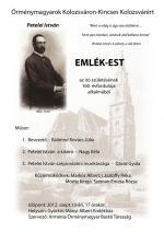 Petelei István-emlékest - plakát
