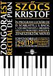 Szőcs Kristóf zongoraestje - plakát